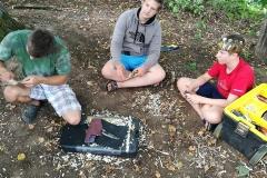 Gervinių stovykla. Ąžuolų pamaina. Medžio drožinėjimo dirbtuvės