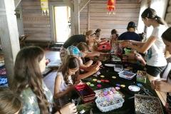Gervinių stovykla. Mergaičių pamaina. 2018. Dirbtuvės