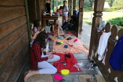 Gervinių stovykla. Mergaičių pamaina. 2018. Fėjų lazdelių dirbtuvės