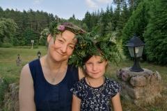 Gervinių stovykla. Mergaičių pamaina. 2018. Birutė ir Tara