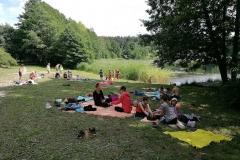 Gervinių stovykla 2018. Teatro pamaina. Prie Strėvos ežero